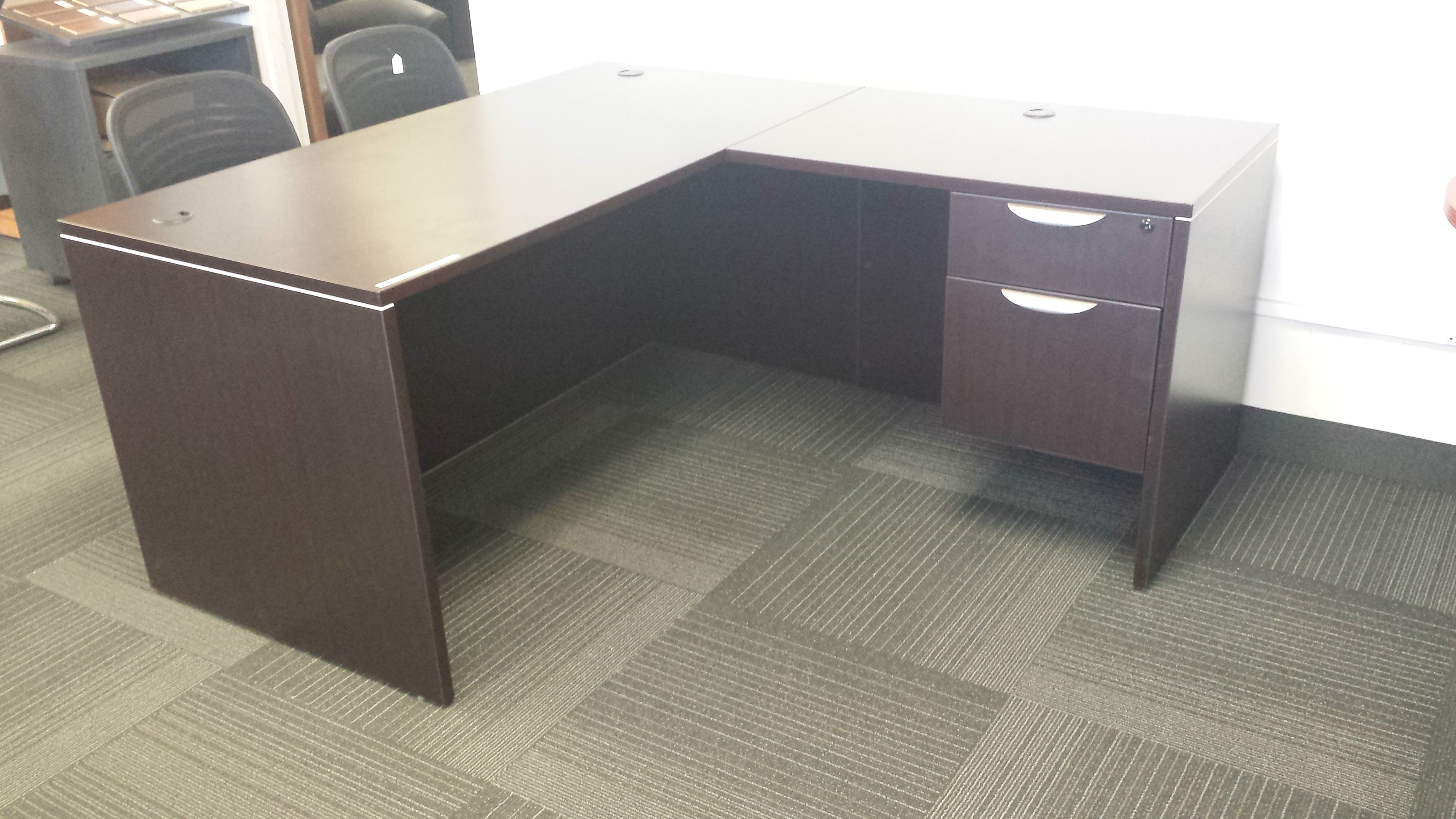 used desks high and shaped affordable desk u showitemdetail commercial quality furniture office savvi